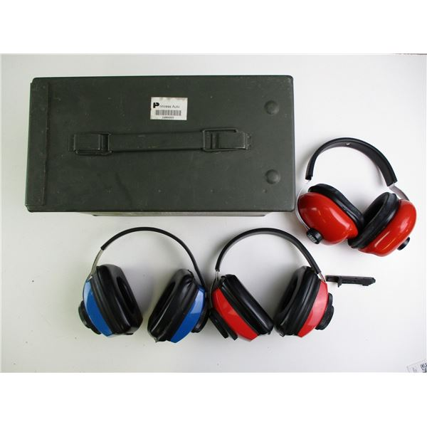 RANGE EAR PROTECTION + AMMO TIN