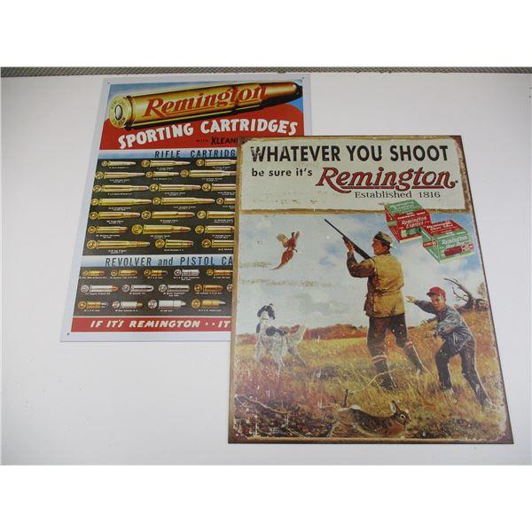 REMINGTON TIN SIGNS