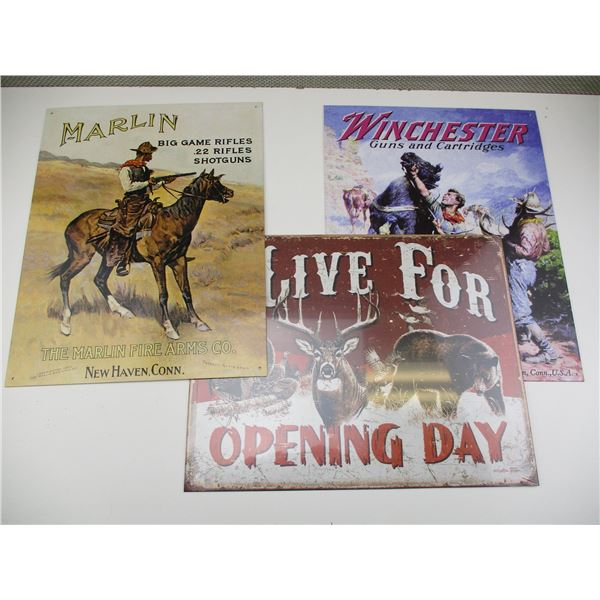 WINCHESTER & MARLIN TIN SIGNS