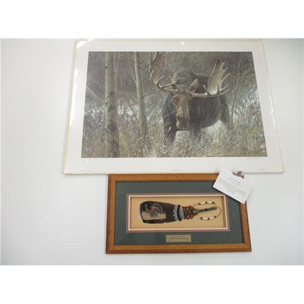 BULL MOOSE PICTURE & FRAMED GENTLEMAN CALLER