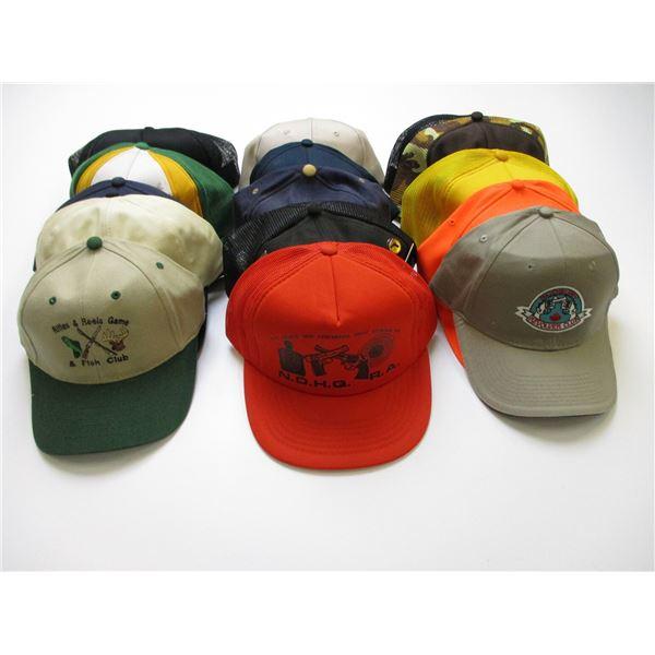 ASSORTED RANGE & FISH & GAMES HATS