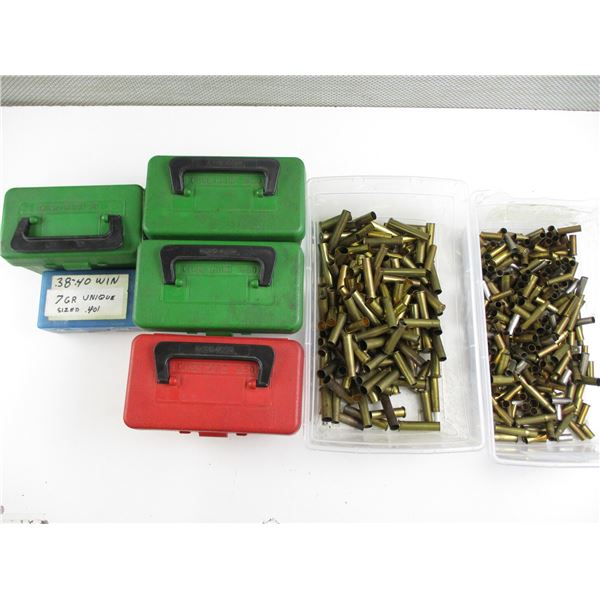 ASSORTED RIFLE & PISTOL PRIMED BRASS CASES