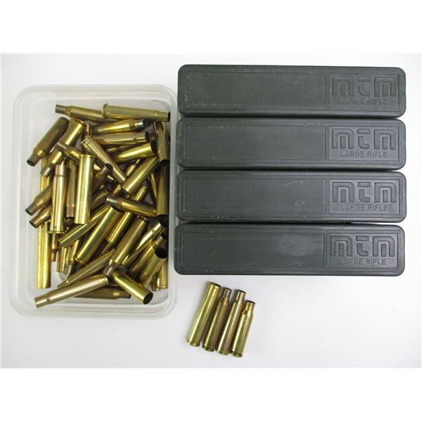 ASSORTED PRIMED & NON-PRIMED RIFLE BRASS CASES
