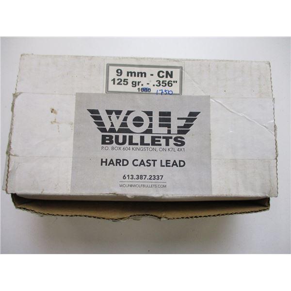 WOLF 9MM .356 HARD CASE LEAD BULLETS