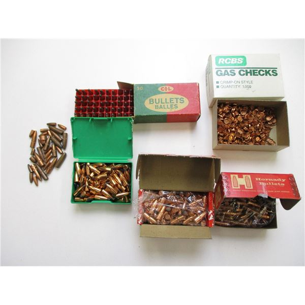 ASSORTED BULLETS & GAS CHECKS