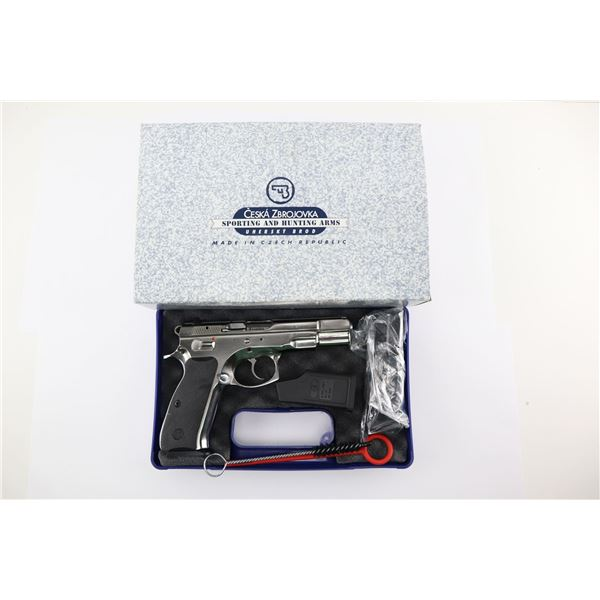 CZ , MODEL: CZ 75 B STAINLESS  , CALIBER: 9MM LUGER
