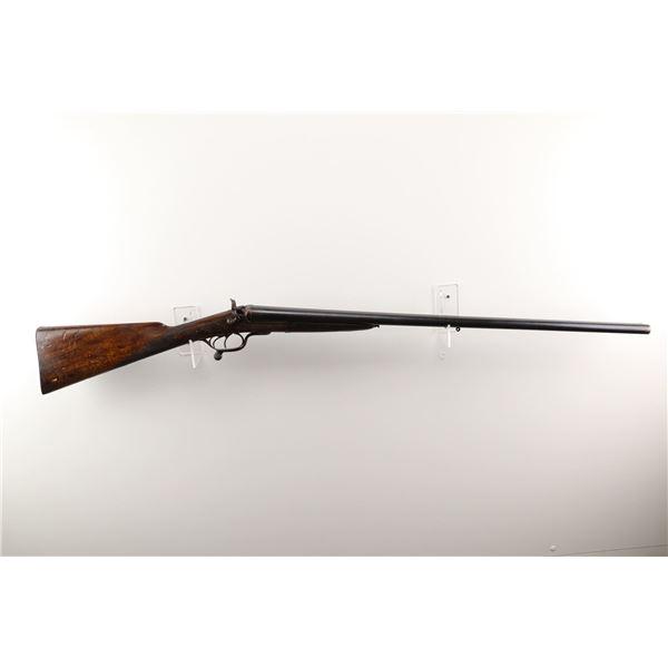 "UNKNOWN BELGIAN  , MODEL: UNDERLEVER HAMMER GUN , CALIBER: 12GA X 2 1/2"""