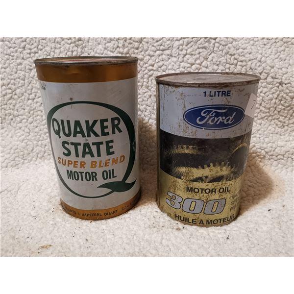 Ford & Quaker, both full tins