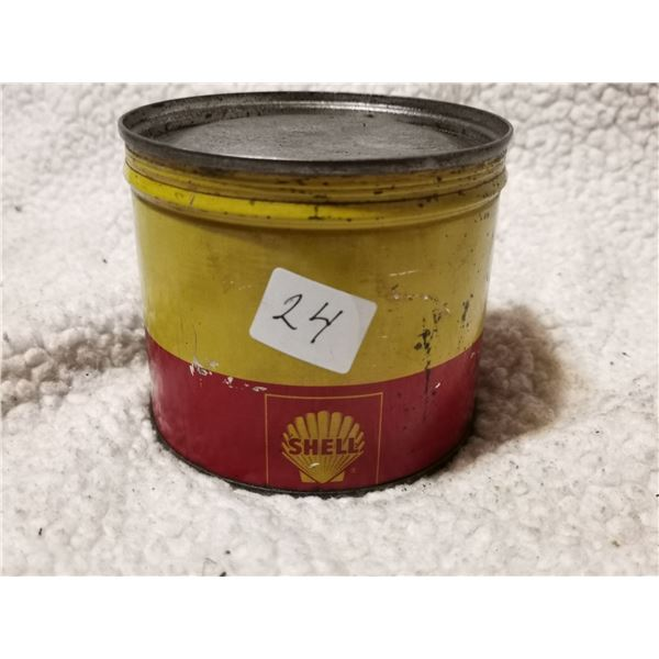 sealed Shell grease can, great condition