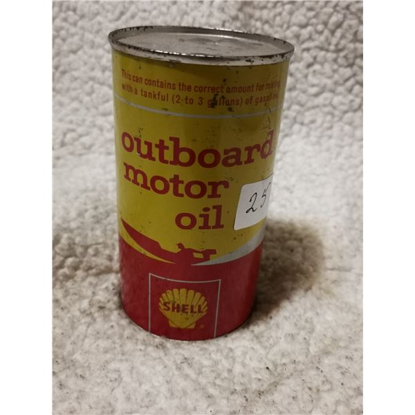 sealed outboard motor oil Shell, great condition