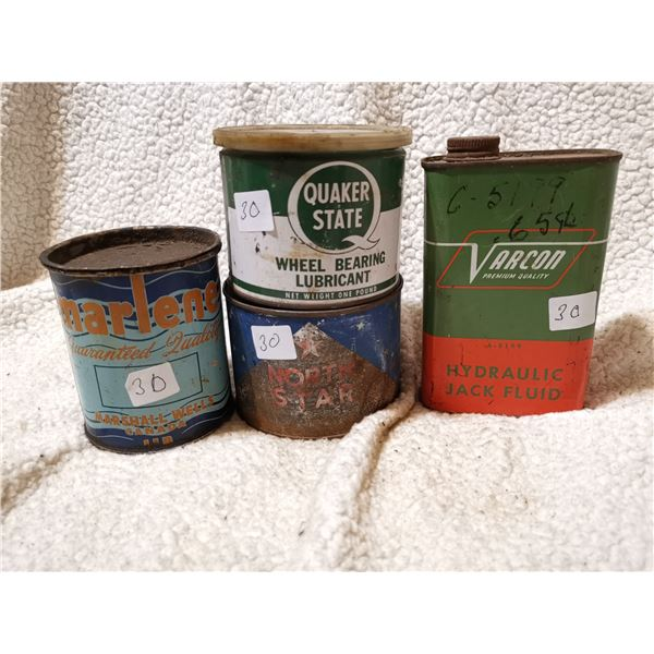 4 oil related tins