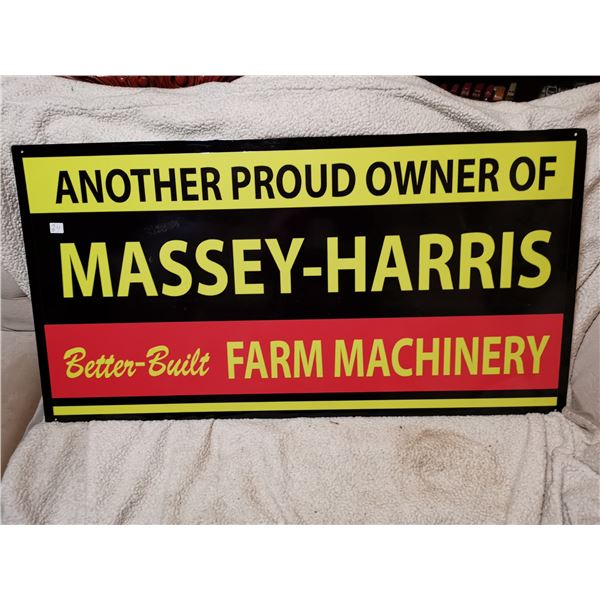"""Large Massey Harris sign 41"""" X 21"""" -heavy, one of a kind *NEW* not a reproduction, not antique"""