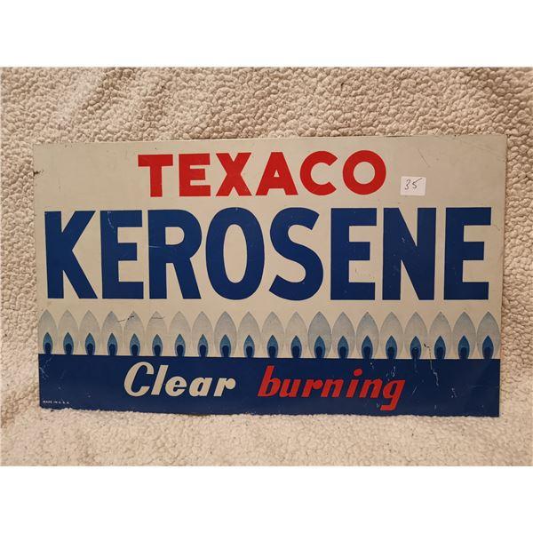 "tin original Texaco kerosene sign 20"" X 12"" Great condition"