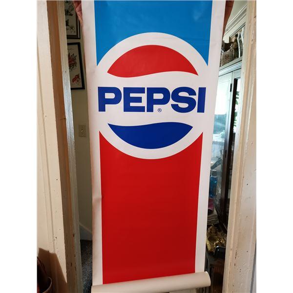 "Large vintage Pepsi sticker 21"" X 6'"