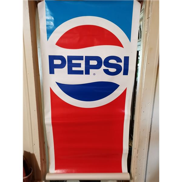 "Large vintage Pepsi sticker 28"" X 6'"