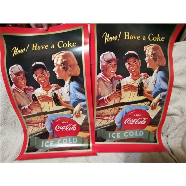 """2 Coca-Cola posters, 25"""" X 15"""""""
