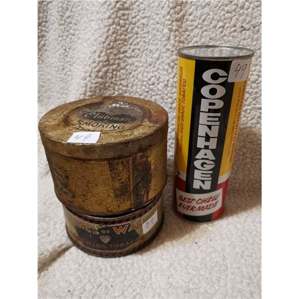 3 tobacco related tins
