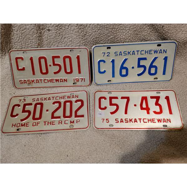 Saskatchewan commercial license plates