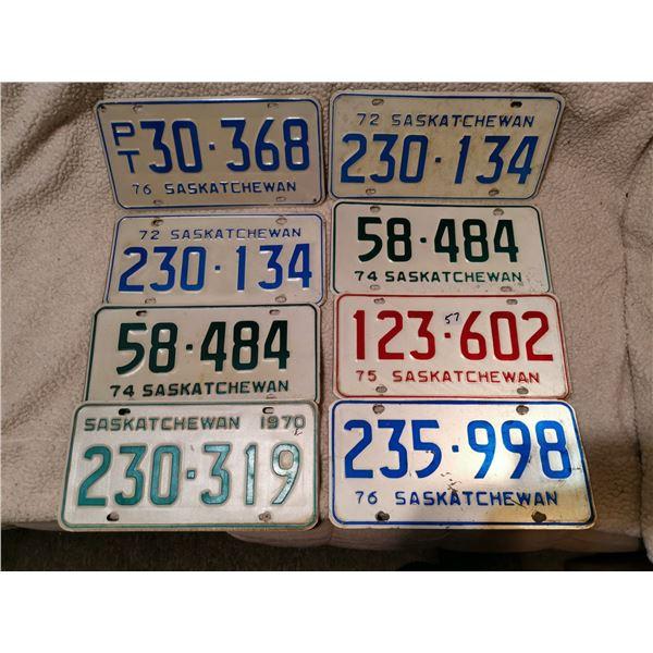 8 Saskatchewanlicense plates
