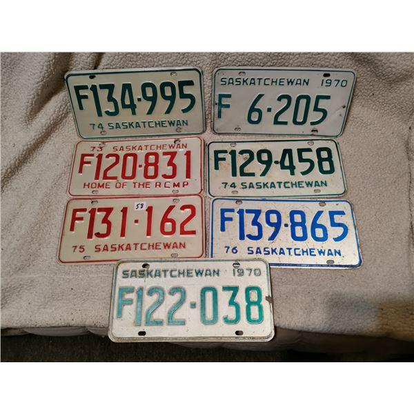 Farm Saskatchewanlicense plates