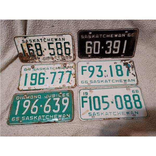 Saskatchewanlicense plates lot