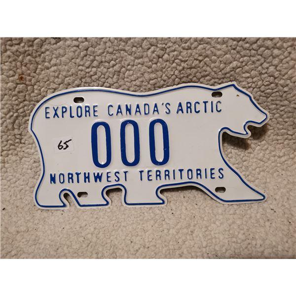 Northwest territory dealer license plate 000