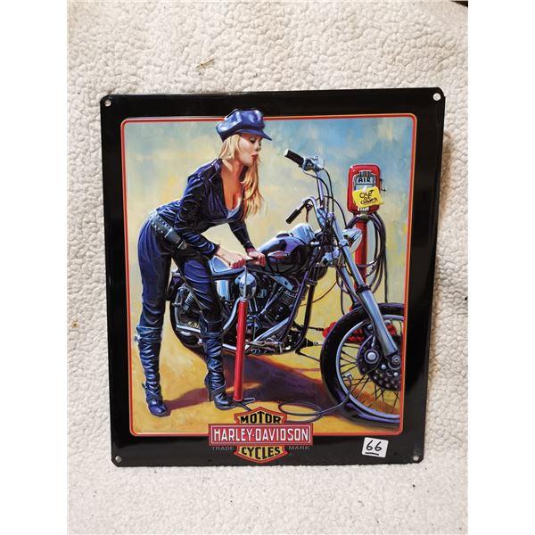 """Harley Davidson embossed sign 15"""" X 13"""""""