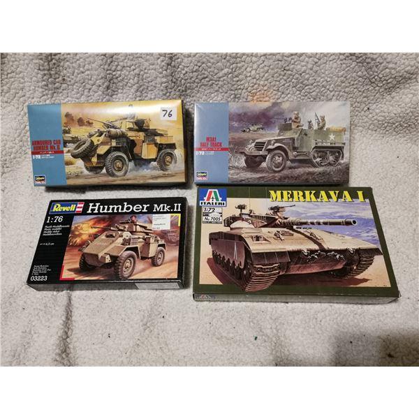 4 mixed lot of model army kits