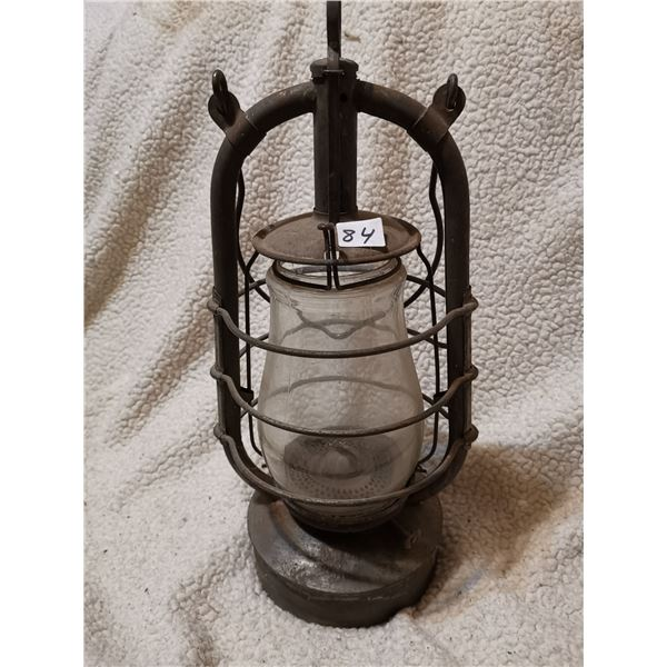 Antique bat logo barn lamp