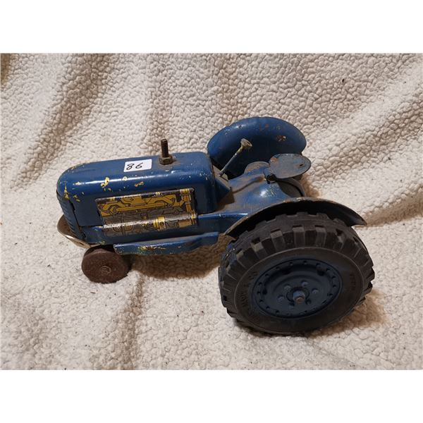 """Vintage Marx tin tractor AS IS 11"""""""