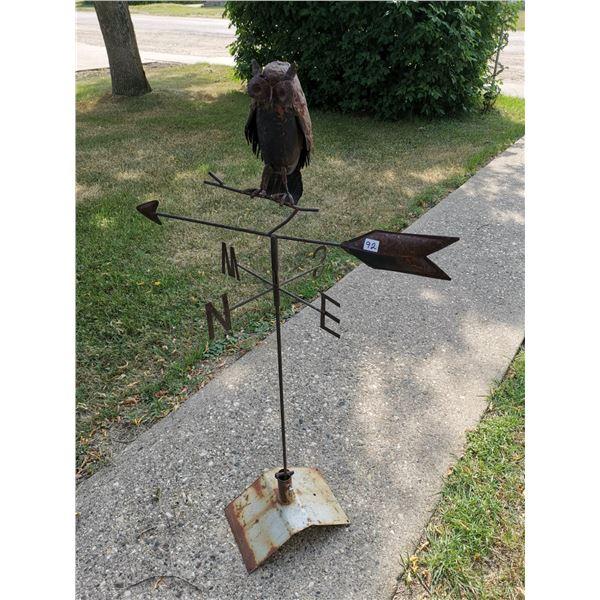 metal owl weather vane