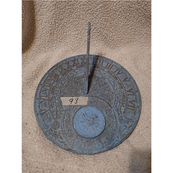 "Cast iron sun dial 11.5"""