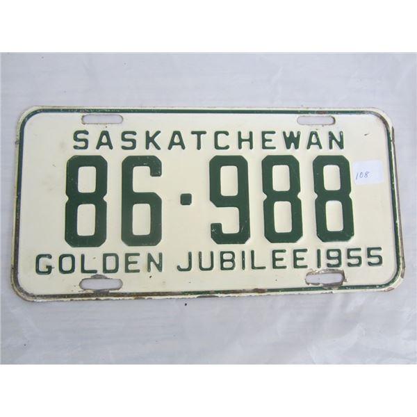 1955 SASKATCHEWAN license plate