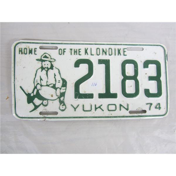 1974 YUKON license plate