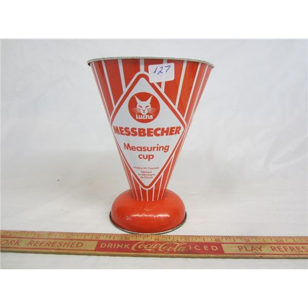UNIQUE WEST GERMAN MEASURING CUP MADE OF METAL /