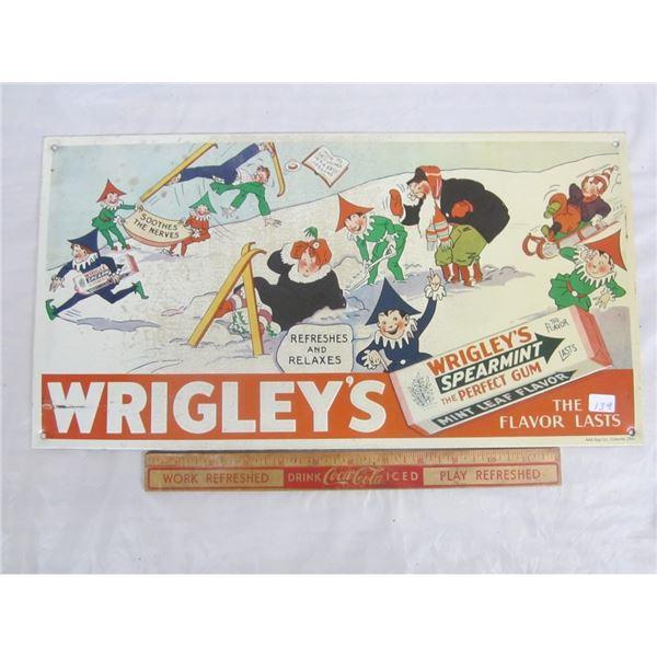 VINTAGE WRIGLEY'S SIGN