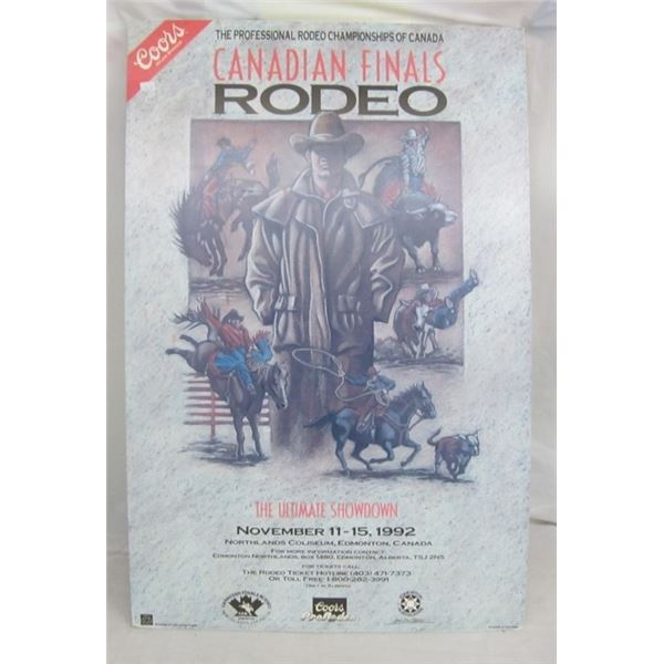COORS RODEO POSTER 1992 / COMPLETE