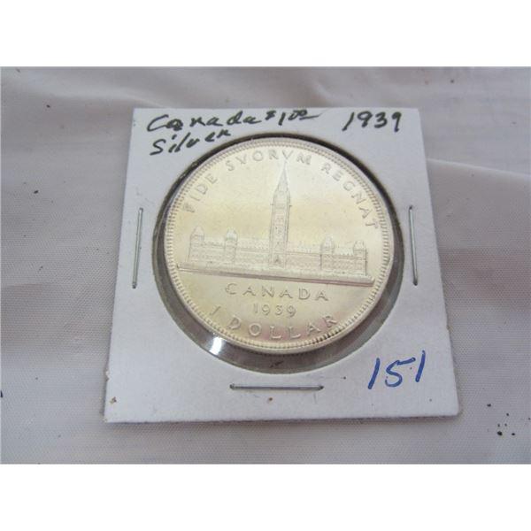 CANADIAN 1939 SILVER DOLLAR