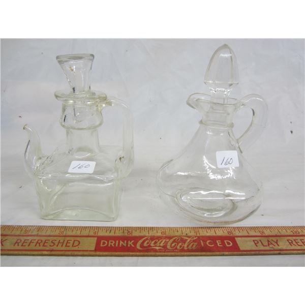 Two Antique Vinegar Cruets