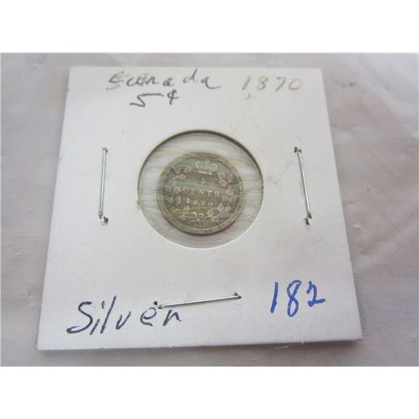 Canadian Silver 1870 Nickel