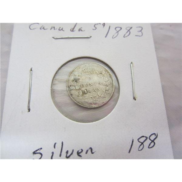 Canadian Silver 1883 Nickel