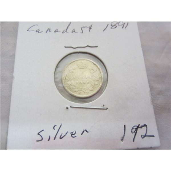 Canadian Silver 1891 Nickel