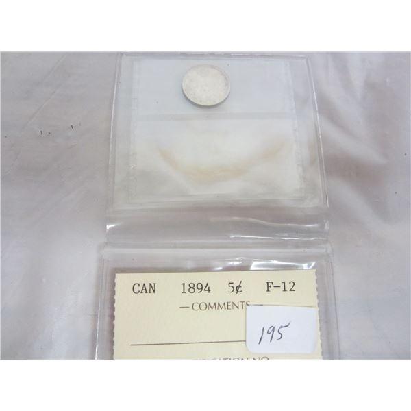 Canadian Silver 1894 Nickel