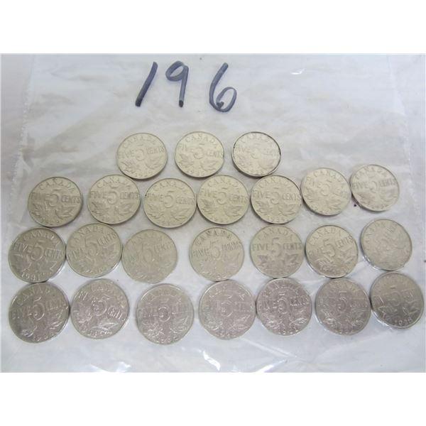 24 King George the V Nickels