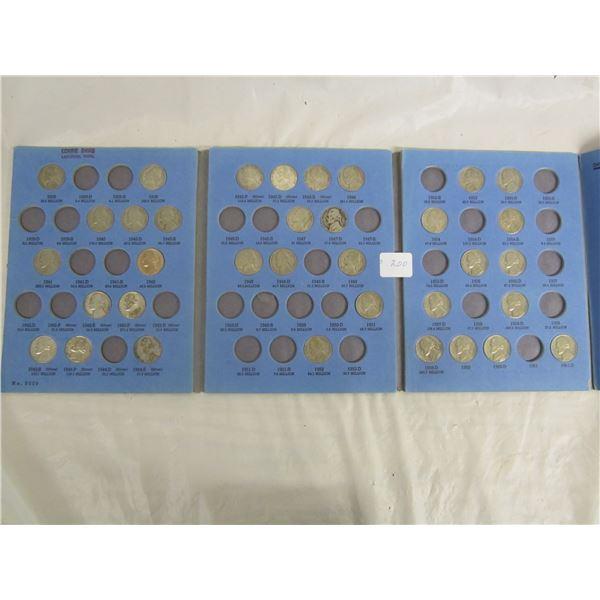 Jefferson Nickels including Silver War Years