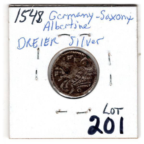 1548 GERMANY SAXONY ALBERTINE DREIER SILVER