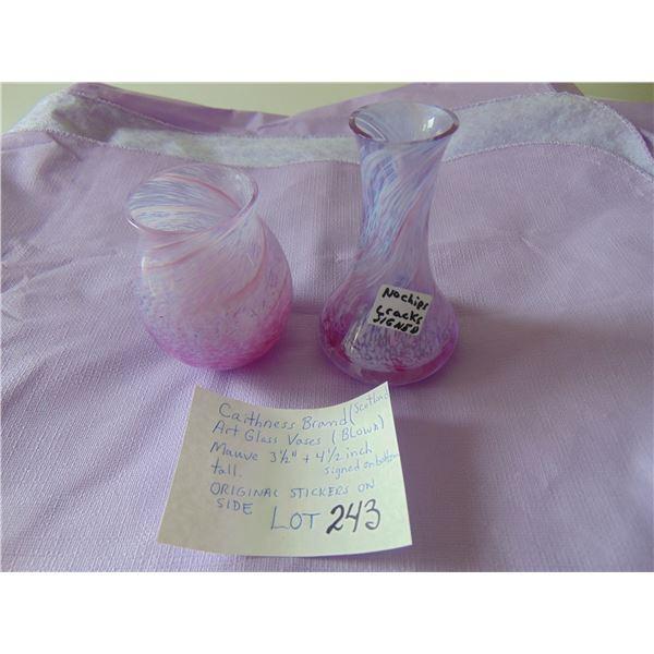 CAITHNESS SCOTLAND BRAND SRT GLASS VASES SEE PHOTOS