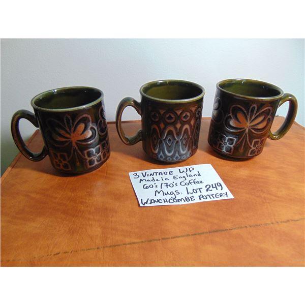3 VINTAGE WP COFFEE MUGS