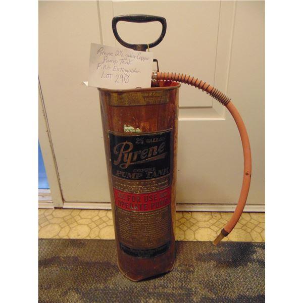 PYRENE 2 ½ GALLON COPPER TANK FIRE EXTINGUISHER