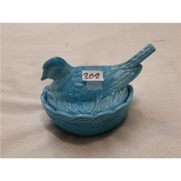 Dove on a nest, blue - 6 X 5